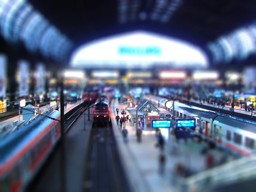 tilt-shift train | by brendan skinner
