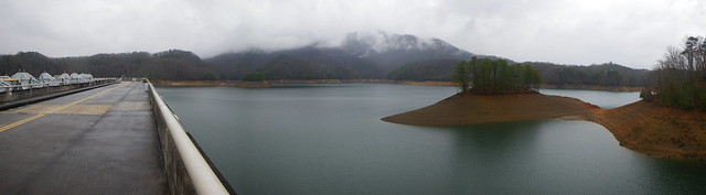 Great Smoky Mountain National Park from Lake Fontana