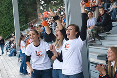 Cheering on the Lewis & Clark College Pioneers | by A look at campus life here in Portland, Oregon.