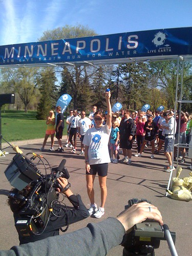 Kara Goucher gets the Minneapolis Run for Water Started | by Live Earth