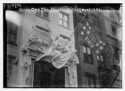 Statue over Mrs. Belmont's Headquarters  (LOC) | by The Library of Congress