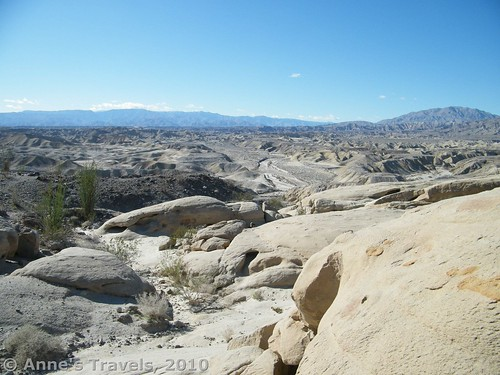The view from atop the Wind Caves area, Anza-Borrego Desert State Park