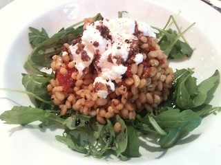Caffe dei Cioppi: Barley salad with roasted bell peppers and balsamic dressing | by clotilde