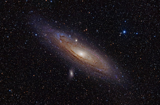 M31, the Andromeda Galaxy (now with h-alpha) | by write_adam
