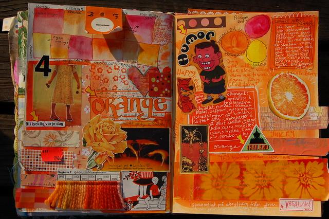 Orange Spread Art Journal by @ihanna #monochromatic