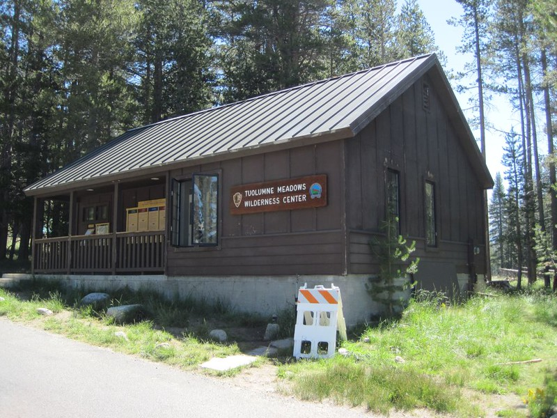 Tuolumne Meadows Wilderness Center, where we picked up our backcountry hiking permits