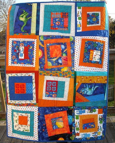 blue/orange charity quilt | by vickivictoria