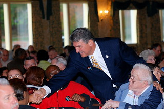 Gov. Joe Manchin, Candidate for U.S. Senate from WV Greeting Guests at the Keep It Made in America Town Hall Meeting in Wheeling, WV on 10/15/10 | by Alliance for American Manufacturing