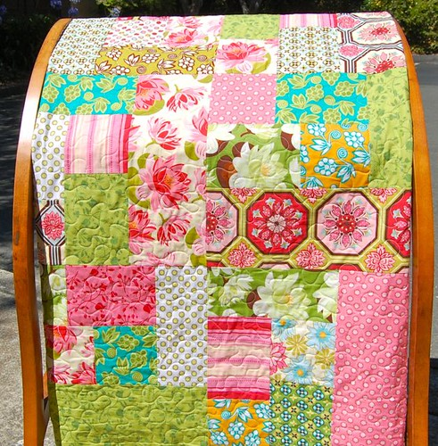 Patchwork in Ginger Blossom | by Pillow Cover Shop
