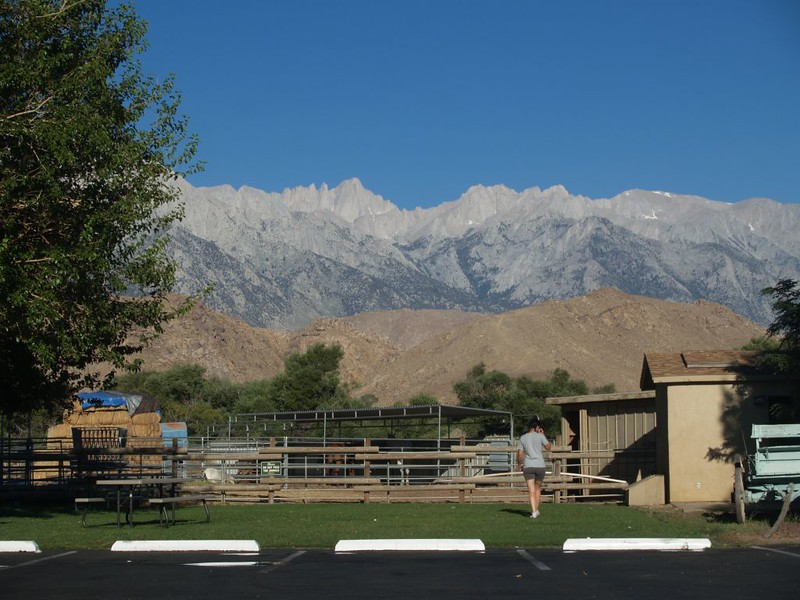 Mount Whitney from Lee's Frontier Gas Station, heading up the east side on highway 395