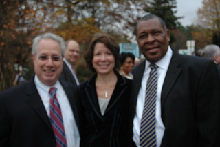 Sam Olens, Attorney General-Elect, Faye DiMassimo Cobb DOT Director, and David Hankerson, Cobb County Manager | by thepathfoundation