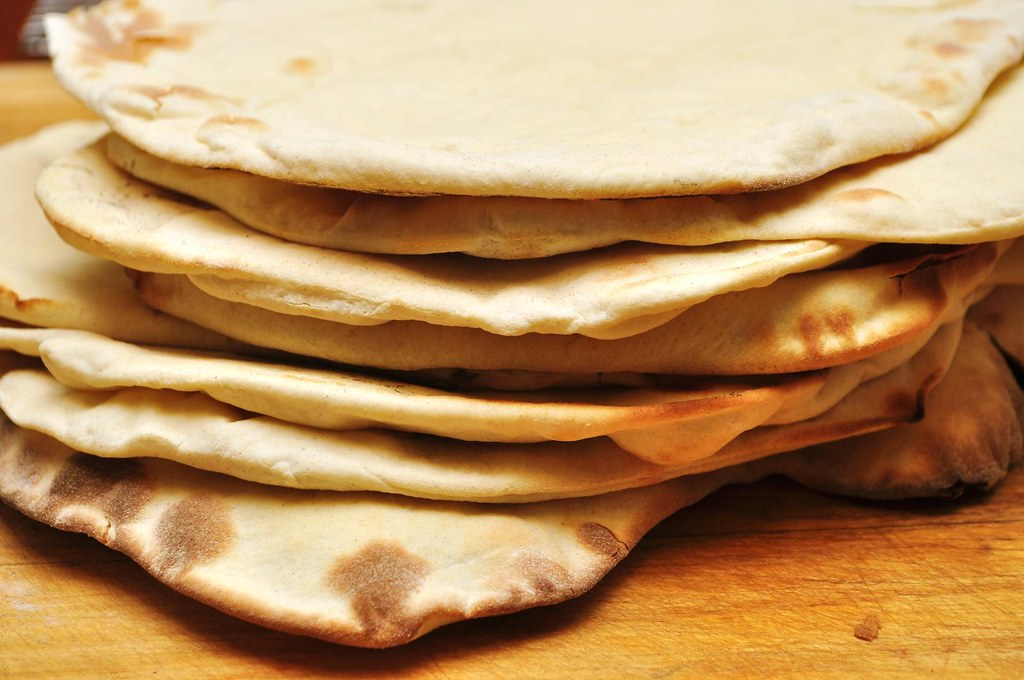 Mmm...homemade pitas