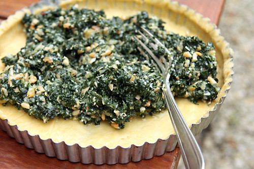 swiss chard tart filling | by David Lebovitz