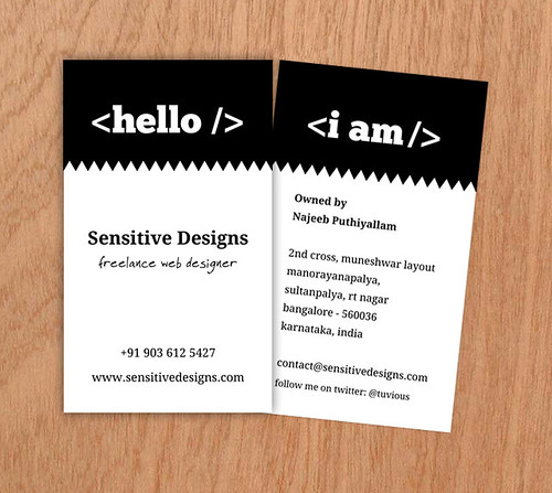 Preview of My New Business Card | by Sensitive Designs