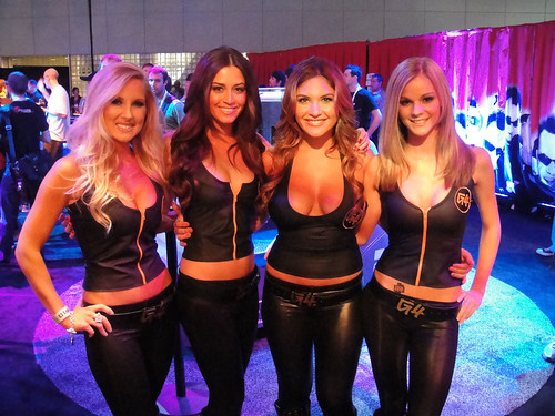 E3 2010 G4 booth babes | by Doug Kline
