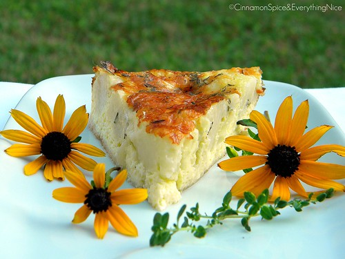 Crustless Cauliflower Quiche | by CinnamonKitchn