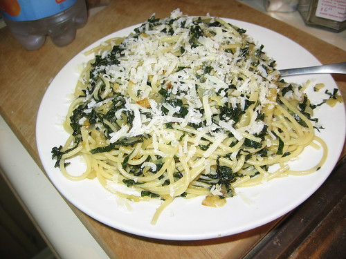Spaghetti with braised kale | Flickr - Photo Sharing!
