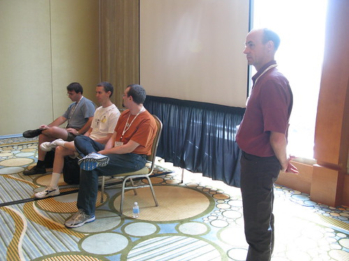 Casey Schaufler leading the security API panel discussion | by x_jamesmorris