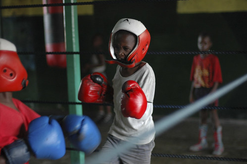 Young boys train in a boxing club | by World Bank Photo Collection