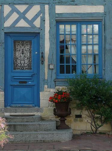 La maison bleue beaumont en auge lexovien flickr - Maison bleue mobel ...