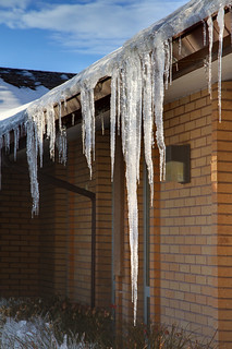"Icicles hanging from roof, 2 of 5 | by IronRodArt - Royce Bair (""Star Shooter"")"
