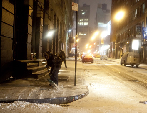 Nolita shoveling, New York City Snowstorm 2011 | by Dan Nguyen @ New York City