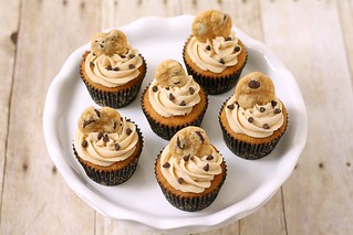 Chocolate Chip Cookie Dough Cupcakes | by Tracey's Culinary Adventures