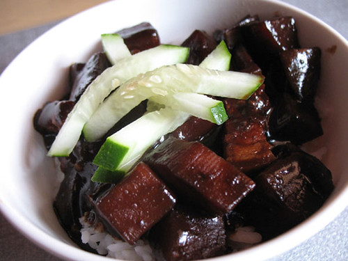 Rice with black sauce | by maangchi