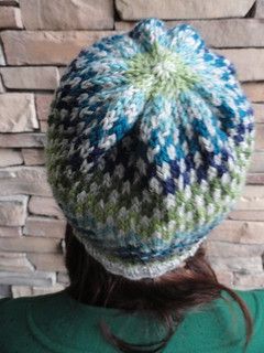 Checkerboard Hat - Back | by girlwhoknits