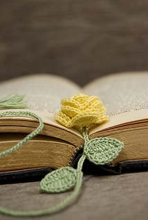 Crocheted Yellow Rose Bookmark | by Joyous Treasures