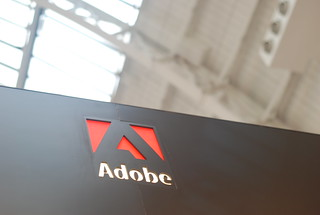 Adobe logo against National Hall roof | by Mr Ush