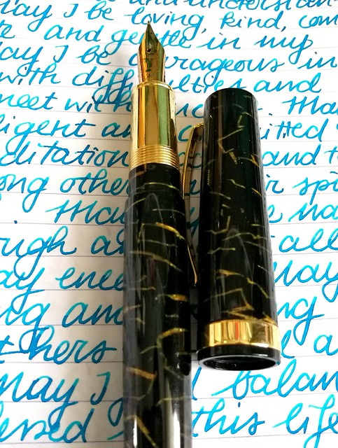 Omas Bologna black and gold celluloid