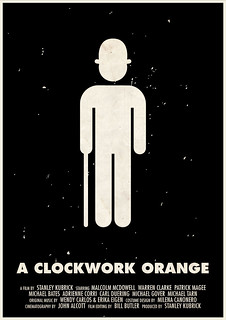 'A Clockwork Orange' pictogram movie poster | by Viktor Hertz