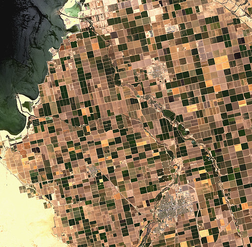 Earth from Space: Irrigated Desert | by europeanspaceagency