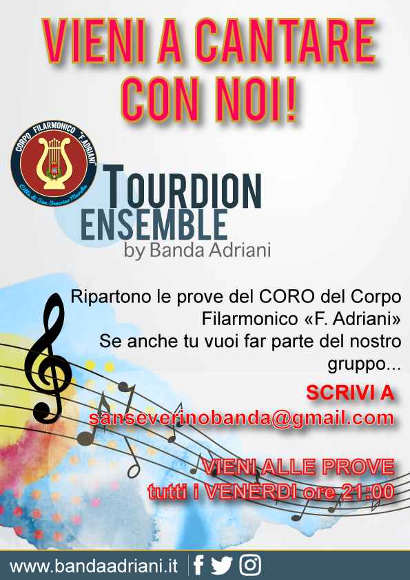 Ripartono le prove del TOURDION ENSEMBLE