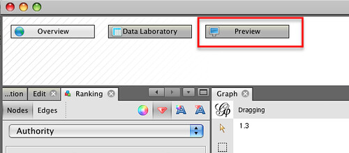 Gephi preview window | by psychemedia