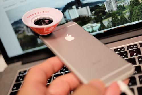 Tenkaippin Kotteri smartphone ramen noodle figured wide conversion lens 06