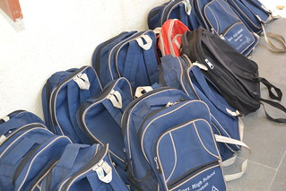 Company-sponsored backpacks for the students | by Dell's Official Flickr Page