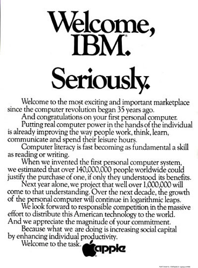 Apple welcomes IBM