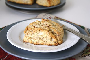 Toasted Almond Scones | by Tracey's Culinary Adventures