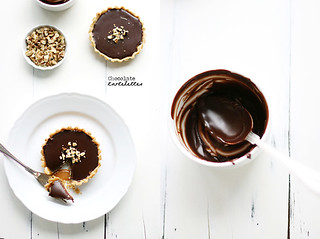 Walnut, caramel and chocolate ganache tartelettes | by Call me cupcake