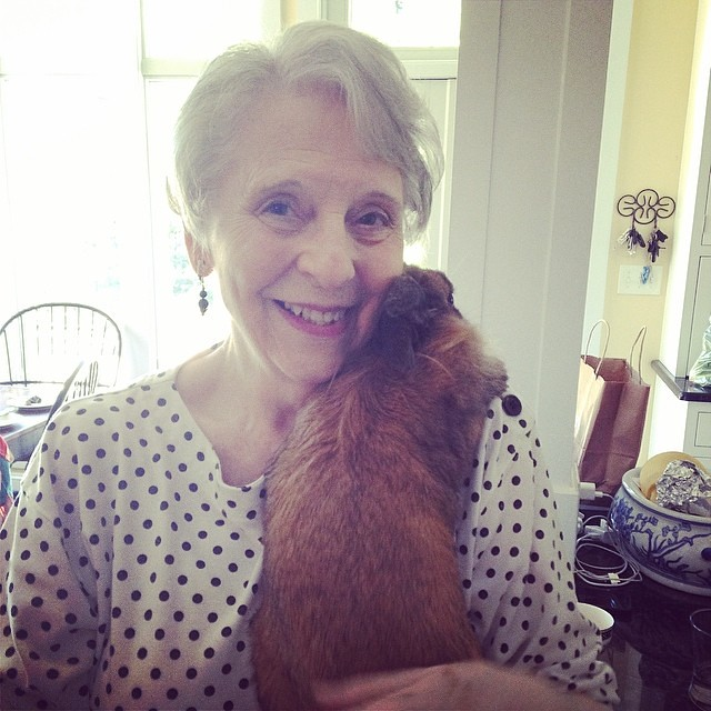 Ma-Maw getting some bun cuddles.