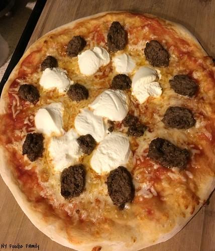 Meatball Ricotta Pizza