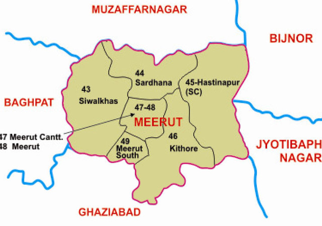 Meerut district Uttar Pradesh Election 2017