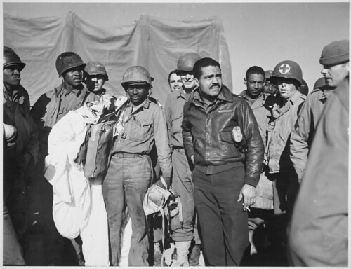 Members of the 99th Fighter Squadron of the Army Air Forces, famous all-Negro outfit... | by The U.S. National Archives