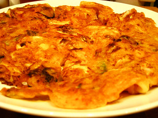 Lucie Yang's kimchi pancake | by maangchi