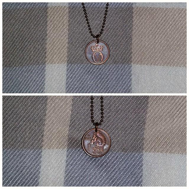 Vintage Squirrel Coin Necklace
