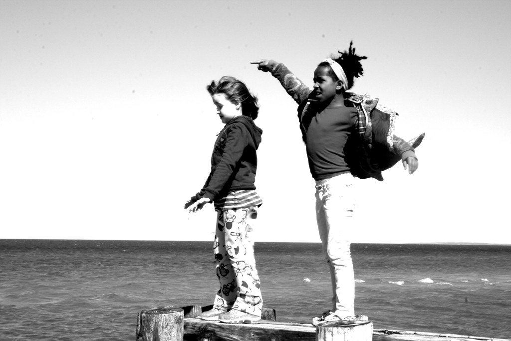 The girls on the pier. Shelter Island. 2011