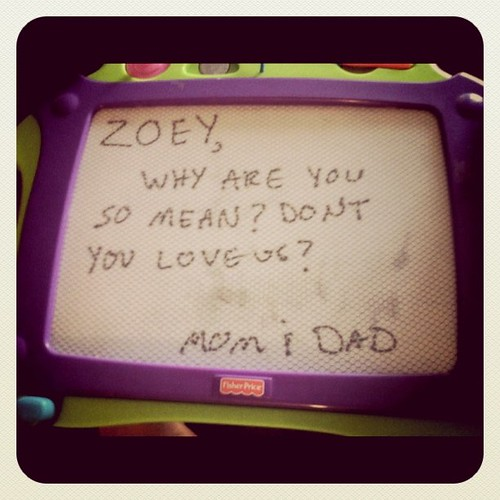 passive aggressive notes to your toddler via magnadoodle | by misterpink82