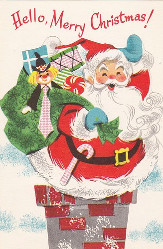 Christmas Toys Cards : Hello merry christmas vintage quot toy card
